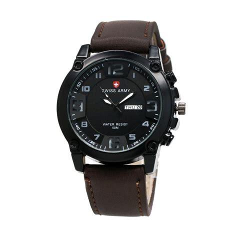 jual swiss army sa002 jam tangan pria coklat harga kualitas terjamin blibli