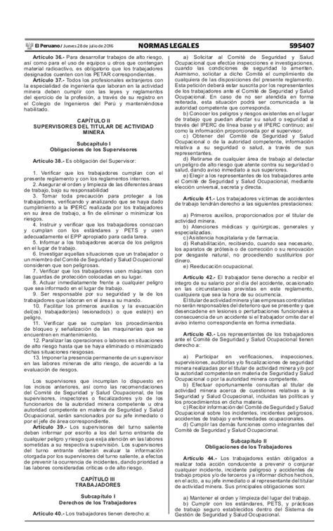decreto supremo 024 2016 energia y minas decreto supremo n 176 024 2016 em aprueban reglamento de