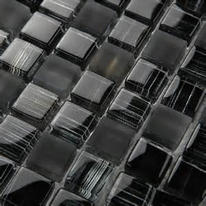 tiles black frosted glass kitchen backsplash crystal