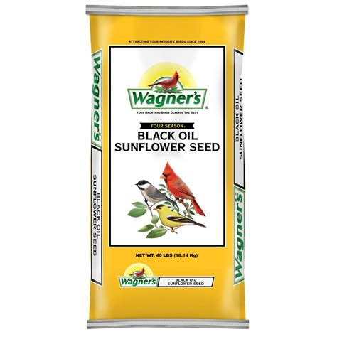 black sunflower seeds 40 lbs wagner s 40 lb black sunflower seed 76029 the home depot