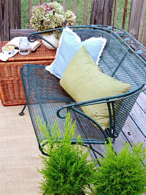 give your outdoor spaces character with flea market finds