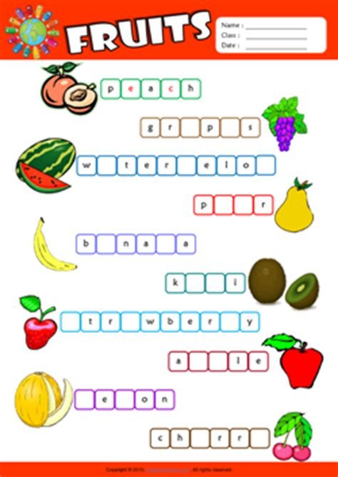 fruit unscramble fruits esl printable worksheets for 2