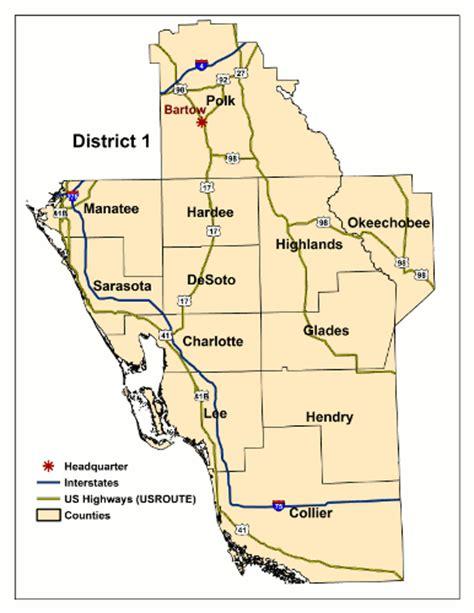 florida dot district map florida department of transportation district 1 surveying