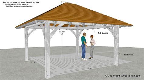 Hip Roof Pavilion Plans Hip Roof Pavilion