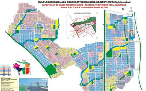 layout plan of jinnah garden islamabad multi gardens housing scheme sector b 17 islamabad layout