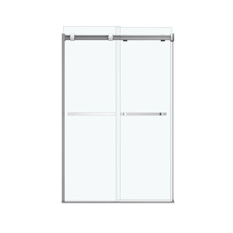 Maax Sliding Shower Doors by Shop Maax Duel 44 5 In To 47 In Frameless Chrome Sliding