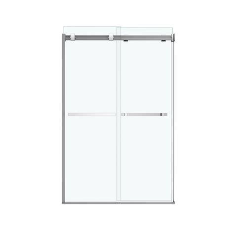 Maax Shower Doors Frameless Shop Maax Duel 44 5 In To 47 In Frameless Chrome Sliding Shower Door At Lowes