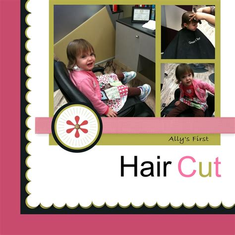 scrapbook layout for first haircut first haircut scrapbook com scrapbook pages