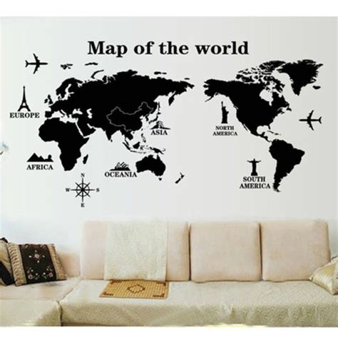 map of the world wall sticker map of the world wall sticker world map wallpaper for sale home decor store malaysia