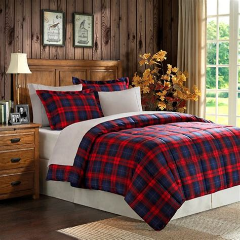 red plaid bedding red plaid microfiber down alternative comforter mini set