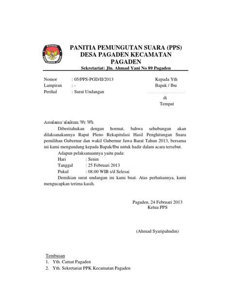 format email undangan meeting surat undangan rapat pleno