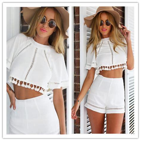 Set Top Shorts Black White 18646 1 womens white dress shorts hardon clothes