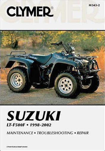 1998 Suzuki 500 Quadrunner Suzuki Lt F500f Quadrunner 500 1998 2002 Clymer Owners