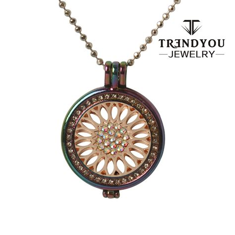 8 And Colorful Necklaces by Trendyou Jewelry Coin Colorful Metal Color Pendant
