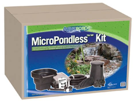 Aquascape Pond Products by Aquascape 4 X6 Micropondlesst Waterfall Kit Pondless