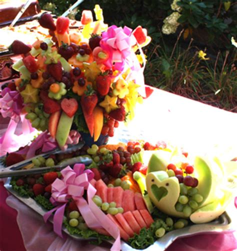 Bridal Shower Fruit Display suffolk county island caterer fruit display at a bridal shower