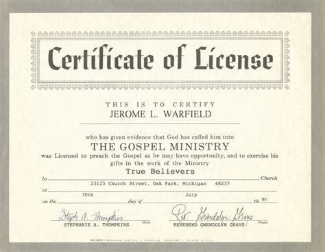 ordination certificate templates free search results for