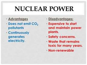 Nuclear Power Plant Advantages And Disadvantages Essay by Advantages Disadvantages Of Energy Resources Ppt