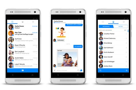 messenger apps for android messenger for android gets a complete holo ui makeover in update