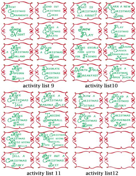 printable advent calendar ideas advent countdown calendar including 100 activities free