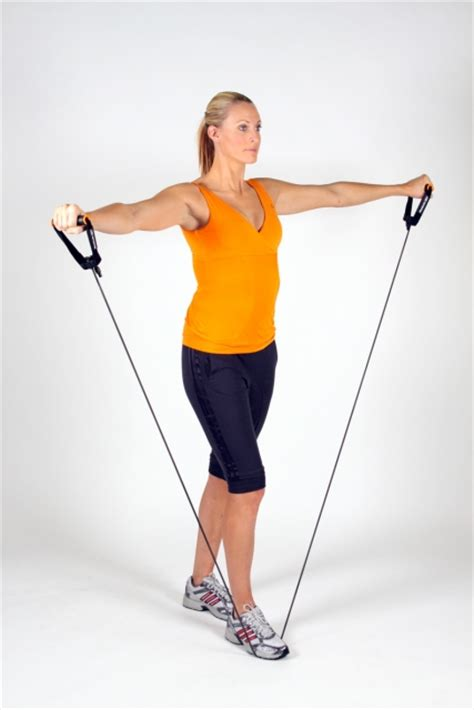 lateral raise with resistance band ibodz personal trainer