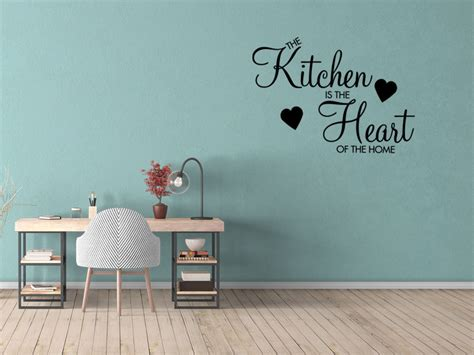 kitchen wall vinyl stickers kitchen is the of the home wall sticker decal vinyl removable quote ebay
