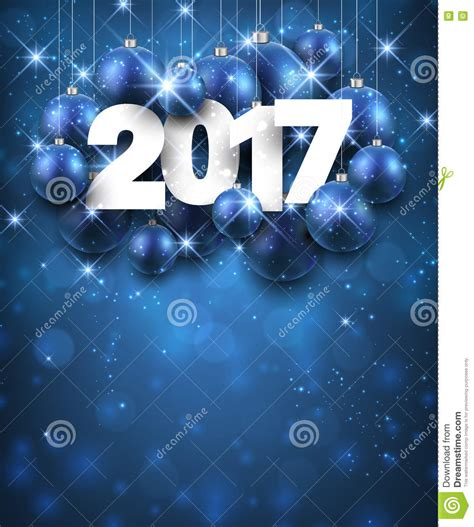 blue new year blue 2017 new year background vector illustration