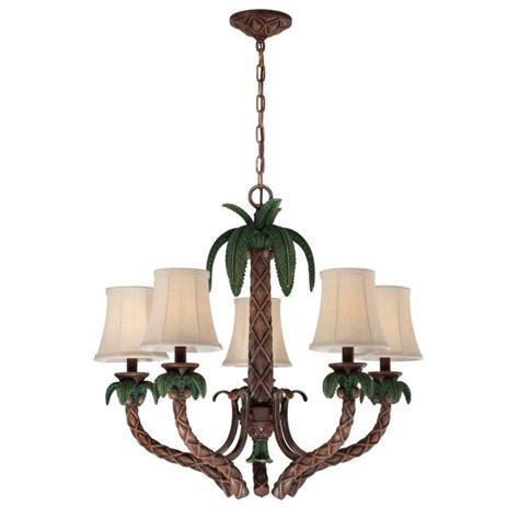 palm tree chandelier    tropical light fixture