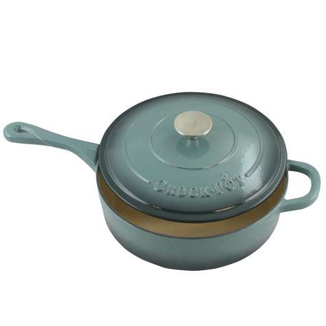 Artisan Kitchen Faucets by Crock Pot Artisan 3 5 Qt Enameled Cast Iron Deep Saute