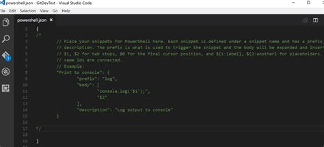 powershell comment section adding powershell snippets to visual studio code