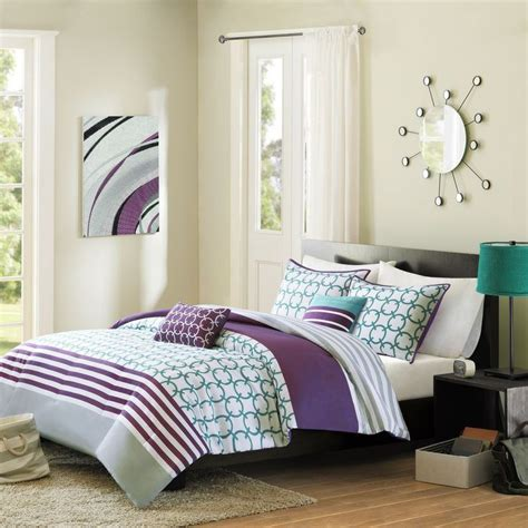 teal purple and grey bedroom details about modern teal blue grey purple white chic