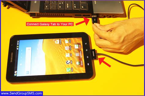 software for connecting samsung mobile to pc few steps to send sms with samsung galaxy tab using drpu