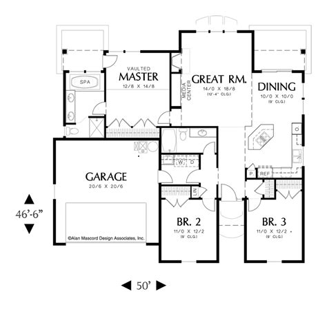 Starter Home Plans by House Plan Details Plan 1148 The Glenview