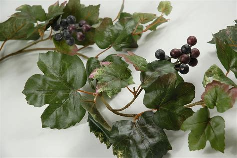 6 artificial grape leaf garlands