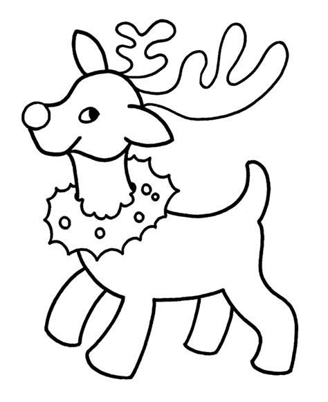 christmas reindeer coloring pages coloring home