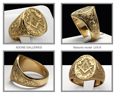 Audi Vide Tace Meaning by Masonic Signet Rings Mason Hand Engraved Ring By Adone