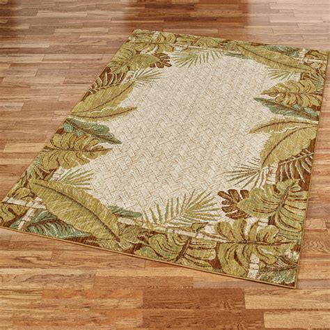Paradise Cove Stain Resistant Tropical Area Rugs Tropical Rugs
