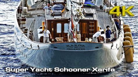 yacht xarifa superyacht schooner xarifa 4k youtube