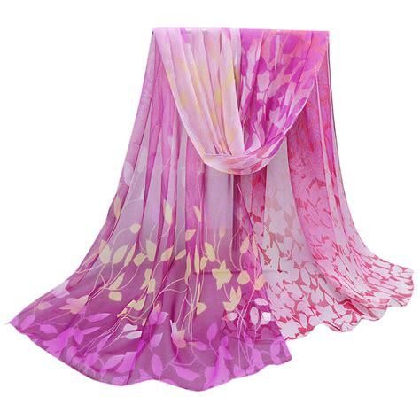 17725 Soft Chiffon Top Soft Printed Flower M new scarf printed soft colorful shawl wrap imitation