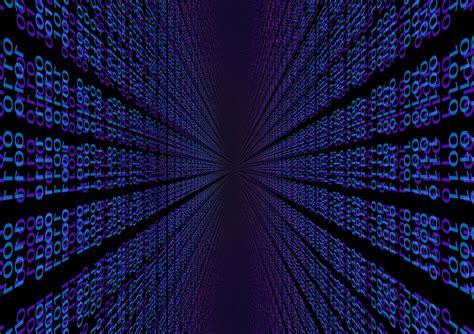 digital to illustration gratuite binaires null une digital bleu