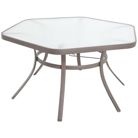 Hexagonal Patio Table Shop Garden Treasures Brown Polyester Replacement Canopy Top For 10 Ft Outdoors Patio Furniture