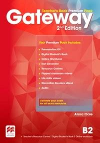 gateway b2 teachers book 0230417655 gateway b2 teacher s book premium pack cole anna купить книгу с доставкой my shop ru