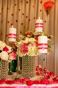Our reception decorations for bride amp groom table