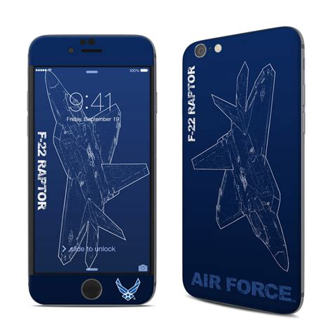 apple iphone  skin   raptor   air force decalgirl