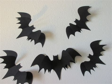 How To Make Bats Out Of Paper - 3d bats wall bats paper wall bat silhouettes 5 large 3d