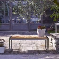banc de jardin en teck et inox vente meuble d ext 233 rieur