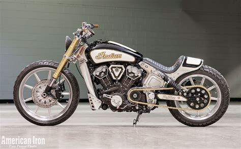 Bill Dodge 'Blings' Out an Indian Scout   Motorcycle