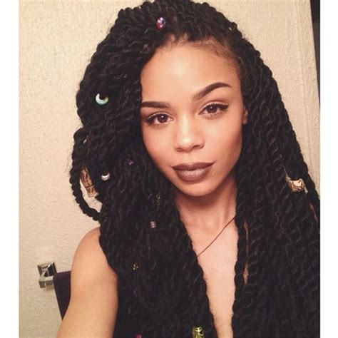 a large twist in straight hair big long twists gorgeous hairstyle