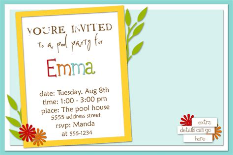 how to write a birthday invitation eysachsephoto
