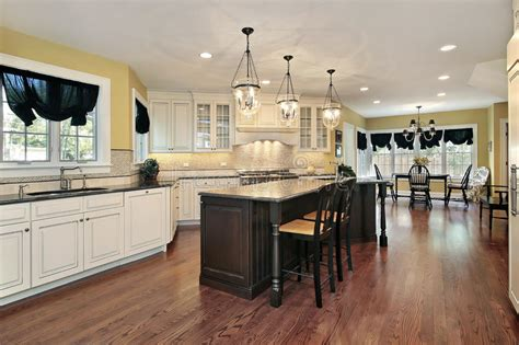 kitchen island eating area kitchen with island and eating area royalty free stock